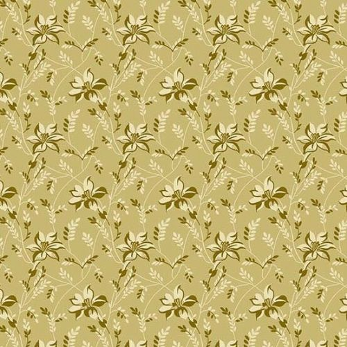Andover SEQUOIA, Buds and Vines Beige 8753N, 100% Cotton Patchwork Quilting